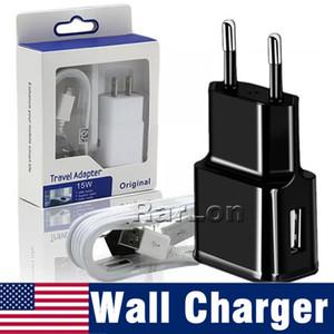 Mur Chargeur Accueil Voyage Adpater Micro USB Kits 2 en 1 US Version EU Plug avec USB Câble Chargeur De Voiture Pour Galaxy S9 S8 Goophone x