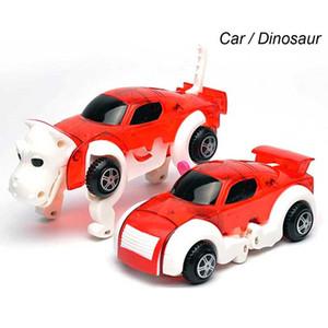 2018 déformation à chaud du chien Transformer chiot Morphing voitures de jouet remontage automatique Robot chien cadeau créatif pour garçons filles