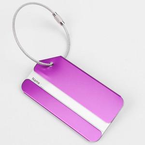Бирка багажа алюминиевого сплава модная Навальная lestainless стальная алюминиевая умственная бирка багажа для перемещая багажа / чемодана