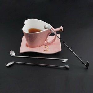 2pcs / Set Music Note Cuchara de café de acero inoxidable Helado Té Café Cóctel Cucharillas Cuchara de mezcla Accesorios de cocina
