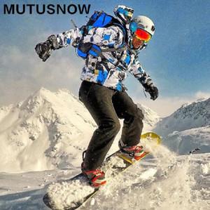 Лыжный костюм Мужчины Зима Новый Открытый ветрозащитный водонепроницаемый Термические Мужской снега штаны лыжи Набор спорт костюмы Горнолыжная куртка мужчины куртку + штаны