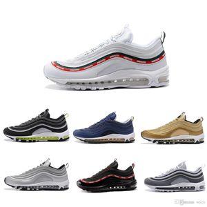 nike air max 97 airmax 97 Venta Caliente Nuevos Hombres Zapatos Cojín KPU Zapatos de Entrenamiento de Plástico Barato Al Por Mayor Zapatillas Al Aire Libre Zapatillas Tamaño SZ36-45