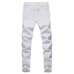 Pantalones vaqueros elásticos de los hombres Pantalones de mezclilla blancos de moda para hombres Pantalones retro de primavera y otoño para hombres Pantalones vaqueros casuales para hombres Tamaño 27-36 al por mayor