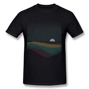 클래식 남성 백분율 코튼 Moonrise 티셔츠 남자 크루 넥 화이트 쇼트 슬리브 티셔츠 S-6XL Normal Tee-Shirt