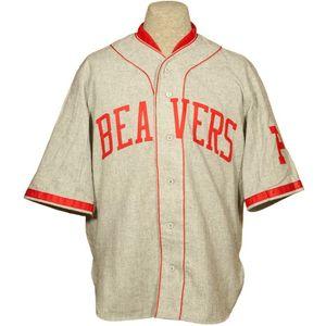 Portland Beavers 1936 Road Jersey 100% brodé Logos de broderie