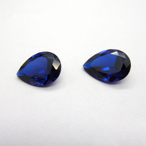 Good Quality 3A Grad Blue Corundum CZ Pear Cut Cubic Zirconia Synthetic Loose Gemstone For Jewelry Making 50pcs lot Factory Direct