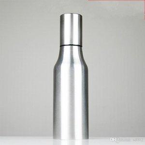 Bottiglia per erogatore di olio addensato in acciaio inox a prova di perdite Oli pentola piccola con coperchio Utensili da cucina Pratica 16 5h cc cc