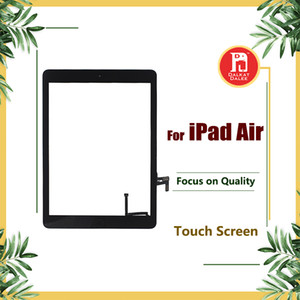 Per iPad air 1 Per ipad 5 Digitizer Screen Touch Screen Assemblaggio di vetro con adesivo Home Button Adesivo Colla Parti di ricambio A1474 A1475