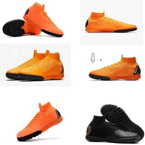 Real Madrid Cristiano Ronaldo Chaussures de football Mercurial Superfly VI 360 CR7 SuperflyX 6 Elite TF TF Chaussures de football Haute Cheville Football Bottes