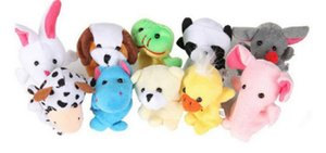 1000pcs lot DHL Fedex EMS Free Shipping Cute Cartoon Biological Animal Finger Puppet Plush Toys Child Baby Favor Dolls
