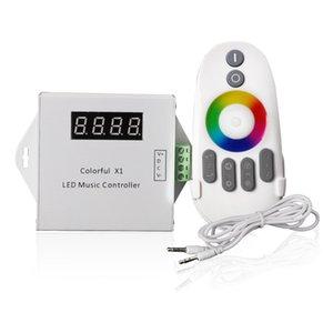 DC5V-24V WS2811 WS2812B 6812 1903 6803 Magic LED Tape Digital X1 Music Controller مع RF Touch Remote Max 600 بكسل