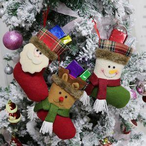 Medias de Navidad Hecho a mano Manualidades Niños Dulces Regalo Papá Noel Claus Muñeco de nieve Ciervos Calcetines de Navidad Árbol de Navidad juguete de regalo regalo # 54 55 56