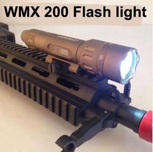 전술 손전등 밤 진화 WMX200 Airsoft 라이트 레일 마운트 Q5 크리 어 LED 조명 헌팅
