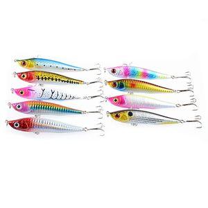 9 Pcs lot Pencil-Fish 3D Eyes Bait Fishing Hooks Fishhooks 4# Hook Artificial Lure Pesca Tackle Pencil Fishing Lures Free Shipping