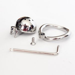 Acero Pequeño Super Aoeu Cock Lock Castity Virginity Cause Lock Male Stealth Penis Device Newest Cock Ring Chastity BeltJo HDSVE