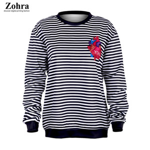 Die Explosion von Digitaldruck und Pullover Pullover Shirt sleeved Sport Mantel weibliche Winter bar