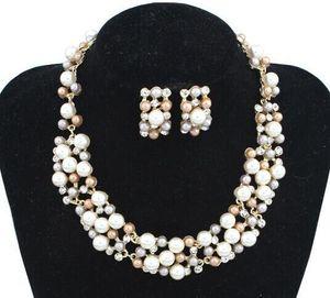 Hot Fashion donna Europa e America collana di perle collana donna collana orecchini collane con ciondolo