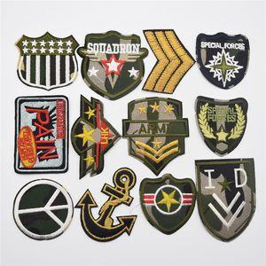 120PCS / Set Camouflage Badge broderie Armband magique Chapitre Patch