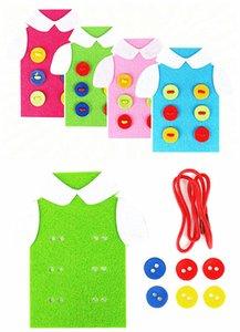 DIY детский сад ручной работы учебное пособие инструмент ручной работы нить швейные кнопки футболки шнурки завязывая наборы нетканых материалов развивающие игрушки Детские
