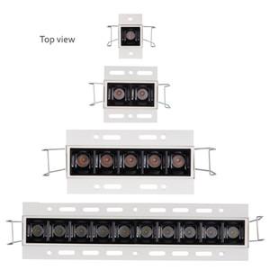 Contraste élevé Confort visuel élevé Tramless 20W 30W Éclairage linéaire de plafond à LED Unités Fixutre 2W Projecteurs multiples sans éclat