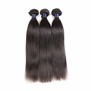 100% de cheveux humains tisse des trames de cheveux vierges brésiliens de 10 à 20 pouces de style droit, de couleur naturelle aux extensions de cheveux remy