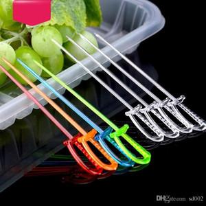 المتاح الفاكهة شوكة البلاستيك صديقة للبيئة السيف شكل الحلوى فوركس الآمن التطبيقي مطبخ أداة ل ktv بار ديكورات