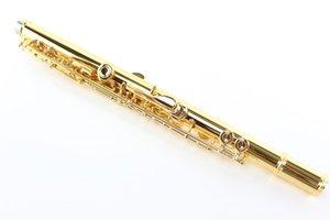 MARGEWATE MFL-500 высокое качество 17 отверстие открыть C Tune E ключ флейта профессиональные музыкальные инструменты Мельхиор позолоченный флейта с корпусом