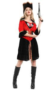 شنغهاي قصة المرأة مثير هالوين ملابس تنكرية الإناث قاسية البحار الكابتن القرصان القراصنة تأثيري حلي القراصنة