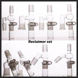 90/45 Grad reclaimer Satz für Ölbohrinsel bong Glas haben 14 18 männlichen und weiblichen Adapter Komplett neues Design reclaimer
