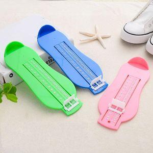 Zapatos para niños Tamaño Medición Regla Herramienta Multi Color Plástico Infantil Pie Medidor Medidor 3 9bd C R