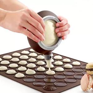 실리콘 패드 Macarons에 대 한 베이킹 금형 라운드 케이크 케이크 장치를 만들기 위해 부엌 식기 막대 BAKeware 도구 특별 한 장식 장치 WX9-550