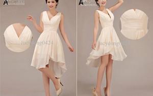 Темный шоколад стиль US24W новый дешевый элегантный специальный Холтер колен невесты платья /свадебные платья Ld003