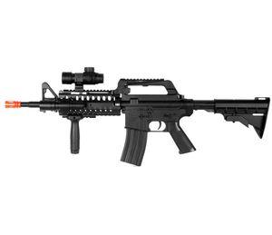 BEM M4 A1 M16 RIS SPRING AIRSOFT RIFLE SNIPER ARMA w / FLASHLIGHT SCOPE STOCK BB