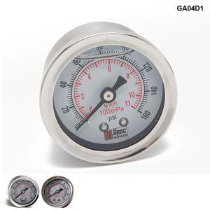 Tansky - 유니버설 연료 압력 게이지 액체 0-160 psi 오일 압력 게이지 연료 게이지 흰색 페이스 TK-GA01