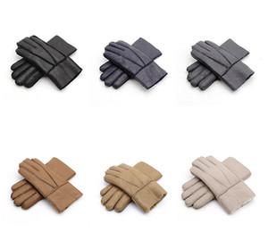 2018 NOUVEAU hiver nouveaux hommes gants de fourrure gants chauds gants en cuir de haute qualité livraison gratuite