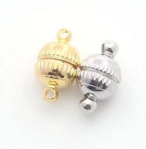 50Pcs / lot Rhodium überzogene Goldsilber starke magnetische Haken-Schmucksache-Entdeckungen 8 * 14mm