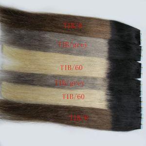 مستقيم 40 قطع لكل حزمة أومبير balayage الساخن بيع اللون # 1b # 613 شقراء الشعر الحقيقي الإنسان extensons 40 قطع شقراء ريمي الشريط في الشعر