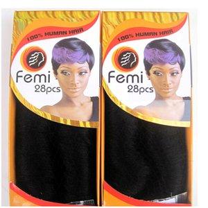 2018 Bundles mit Verschluss 28pcs ein Los brasilianische Jungfrau Remy Menschenhaar bündelt Häutchen ausgerichtetes Haar Remi Femi 28Pcs blonde Bündel Haar