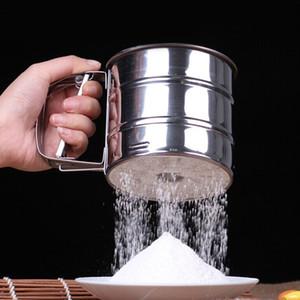 Sieve Cup Screen Mesh Powder Harina Tamiz Herramientas para hornear de acero inoxidable para hornear Bake Pastelería Cake Decorating Tools