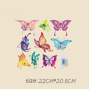 Fashion Cute Butterfly DIY Stickers 22*20.5CM Patches for Clothing Stickers T-shirt Hooded Iron on Patches
