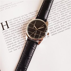 Moda Casual marca para hombre relojes OMG correa de cuero impermeable 38mm caja de reloj de cuarzo fecha simple diseñador original hebilla