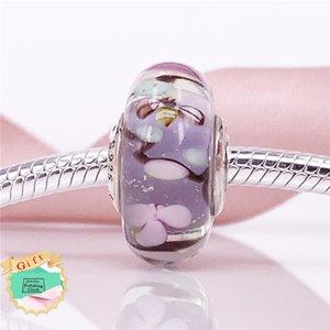 Encantado jardín de cristal encanto de Murano Auténtico encanto de plata de ley 925 se adapta a pulseras de serpiente DIY Joyería fina 797014 Murano encanto