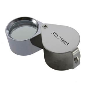 Kleinpaket 30x21mm Lupe Lupe Juwelier Auge Glas Schmuck Diamant Mikroskop Tasche Lupen Kostenloser Versand