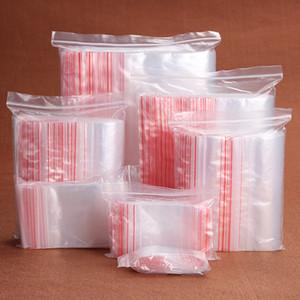 1000pcs / lot Mini-Plastiktaschen Ziplock Seal Transparent Poly Bags Pakete Verpackung 40x60mm Taschen DIY Schmucksachen, die Verpackung