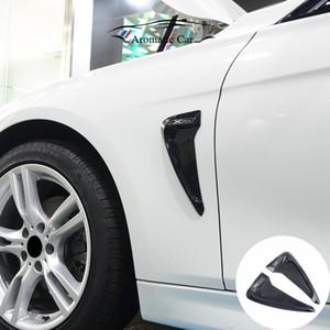 Venta al por mayor de TPU Car Front Fender Side Air Vent Cover Trim Car-styling para BMW f30 f10 serie 134567 e90 e46 Shark Gills Side Vent Sticker