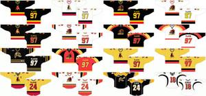Personnalisé 1981 82-2002 OHL Hommes Femmes Enfants Blanc Noir Rouge Jaune Stiched Logos Bulls de Belleville 2010 11-2014 Maillot de la Ligue de hockey de l'Ontario