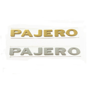 3D наклейка ABS для Pajero Leble Badge хвост задний ствол эмблемы наклейки логотип наклейки
