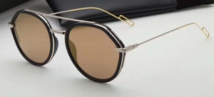 Piloto gafas de sol de plata del espejo del oro / 53/19/150 Sonnenbrille Gafas de sol Gafas de sol de verano gafa de nuevos con la caja