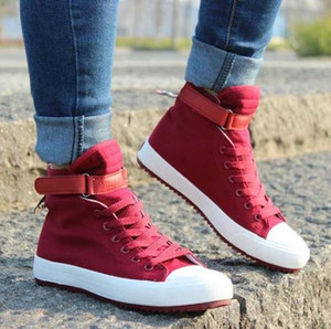 2017 Novos Homens Sapatos Casuais Respirável Preto High-top Lace-up Sapatos de Lona Alpercatas Flats Moda Masculina Branco