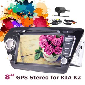 Drahtlose Kamera + 8 '' Andorid 7.1 GPS Head Unit Doppel 2 Din im Armaturenbrett Auto DVD Player Spiegel Link Bluetooth USB / SD Port SWC